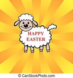 Easter lamb greeting