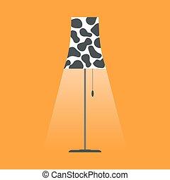 Floor lamp vector.