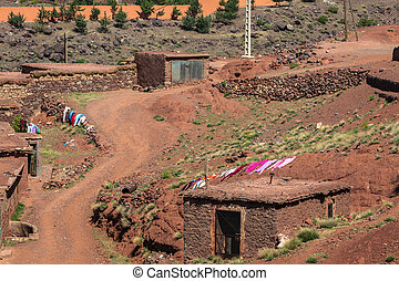 Berber village in Atlas mountains,Morocco