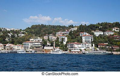 Buildings in Bosphorus Strait, Istanbul City, Turkey