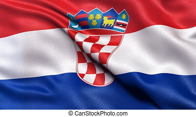 Croatia flag seamless loop