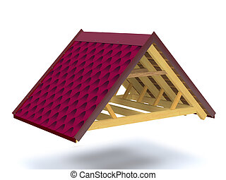 Roof structure of wooden house - Roof structure of wooden...