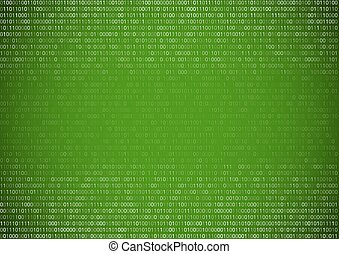 Binary Code Background - Gradient fall off binary code...