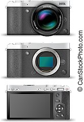 Mirrorless compact camera - Mirrorless digital photo cameras...