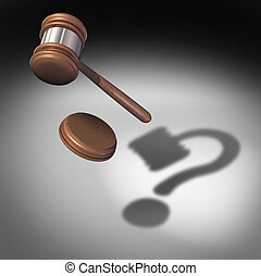 Law Question - Law question concept and court questions...