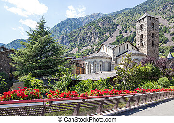 Beautiful view of Andorra La Vella, capital of Andorra