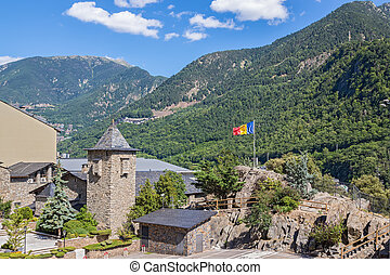 Andorra La Vella surrounded by beautiful mountains - Andorra...