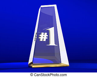 Number One 1 Award Trophy Top Prize Animation