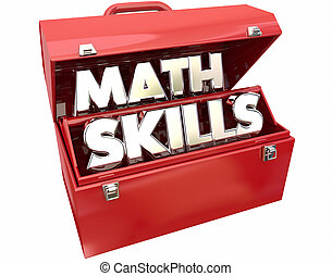 Math Skills Learn Education Study Tutoring Red Metal Toolbox...
