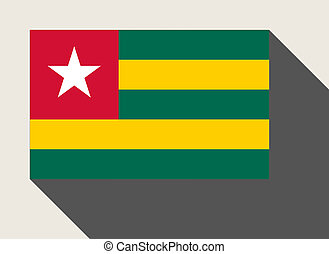 Togo flag in flat web design style