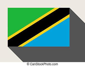 Tanzania flag in flat web design style