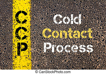 Business Acronym CCP Cold Contact Process - Concept image of...