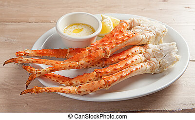Plate of Snow Crab Legs - Clusters of fresh snow crab legs...