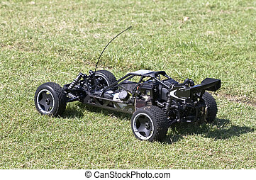 Remote controlled buggy - Racing buggy ready for a high...