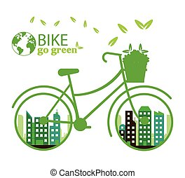 Bike lifestyle design - Bike lifestyle concept with icon...