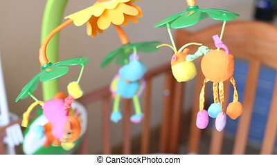 CHILD'S BEDROOM, HOUSE, CHILE - A detailed close-up shot of...