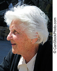 profile of an old lady - side profile of an old Maltese lady...