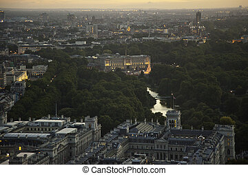 Buckingham Palace London - Panoramic shot of one of the...