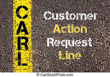 cliente, negócio, acrônimo, pedido,  carl, ação, linha