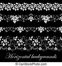 Floral seamless border, vector illustration