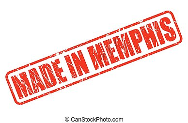 MADE IN MEMPHIS RED STAMP TEXT ON WHITE