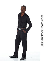 Black African businessman - Young Adult black african...