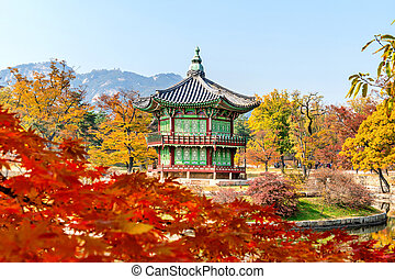 Gyeongbokgung Palace in autumn,South Korea.