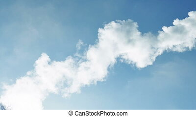 smoke sky - smoke against a blue sky background nature cloud...
