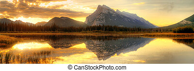 Banff National Park - Vermillion Lake sunrise in Banff...
