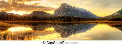 Banff National Park - Vermillion Lake sunrise in Banff...
