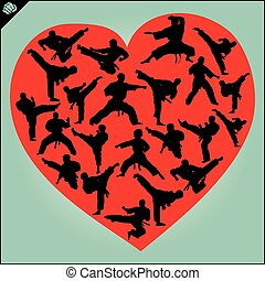 I love karate sign heart