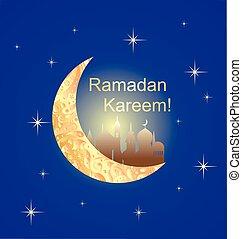 Greeting card for Ramadan
