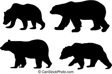 Bears - Abstract vector illustration of various bears
