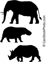 Animals - Abstract vector illustration of wild animals