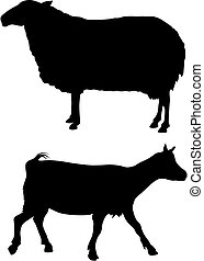 Farm animals - Abstract vector illustration of farm animals