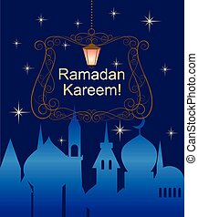 Greeting postcard for Ramadan