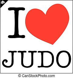 I love judo. Red heart