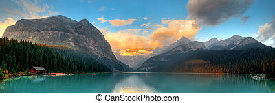 Banff National Park panorama - Banff national park Lake...