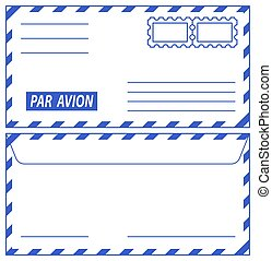 Airmail envelope - Illustration of the airmail envelope...