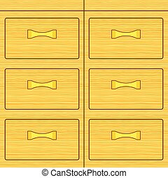 Dresser - Illustration of the wooden dresser box icon