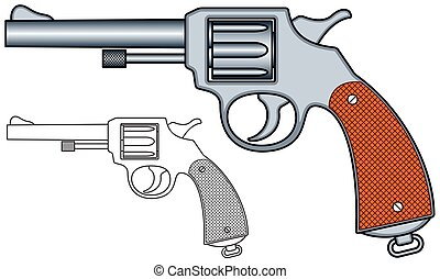 Revolver - Illustration of the revolver icons