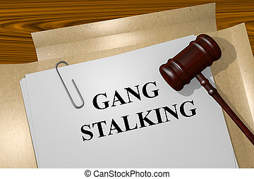 Gang Stalking concept - Render illustration of Gang Stalking...