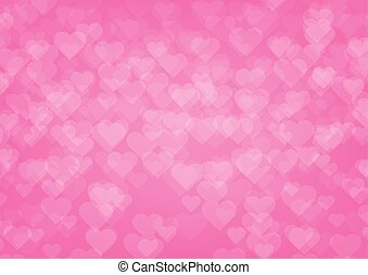 Love hearts on pink color background.Vector illustration Valentine's day background concept.