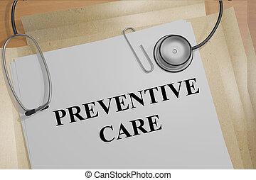 Preventative Care concept - Render illustration of...