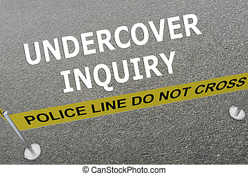 Undercover Inquiry concept - Render illustration of...