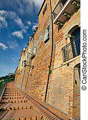 Ancient buildings in Vasto, Abruzzo, Italy - old building...