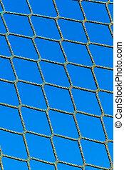 power and blue sky, symbolizing network, captivity, border,...