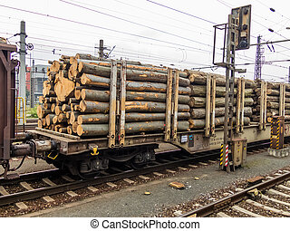 wagon loaded with wood - wagon train loaded with the wood....