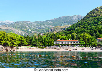 The famous Royal Beach, Milocer, Montenegro - Beautiful view...