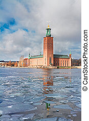 cityhall of Stockholm, Sweden - The City Hall Stadshuset in...